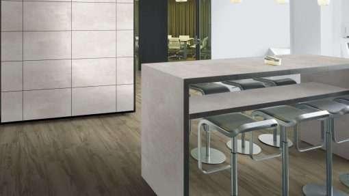 Cocina con suelo laminado Kaindl Roble Tortona 37663 (23)