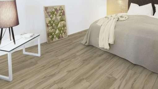 Dormitorio con suelo laminado Kaindl Roble Tortona 37663 (12)