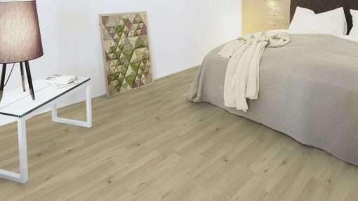 Dormitorio con suelo laminado Kaindl Roble Trevi 37528 (3)