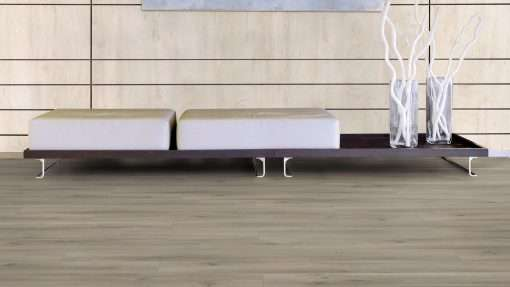 Salon con suelo laminado Kaindl Roble Pleno K4350-21
